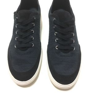 Zara Man sneaker Navy Canvas leather Shoes Size 41